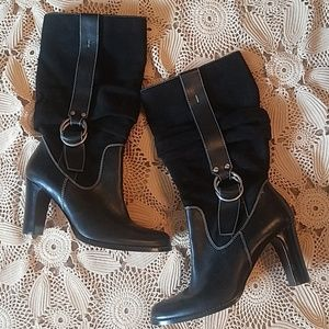 Fabulous black heeled 9 West Boots